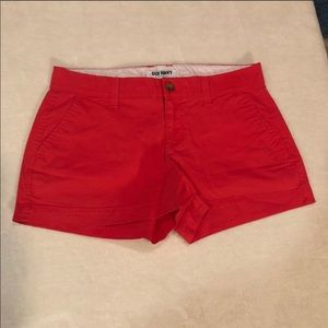 Old Navy Hot Coral Shorts Size 2 Regular Like New